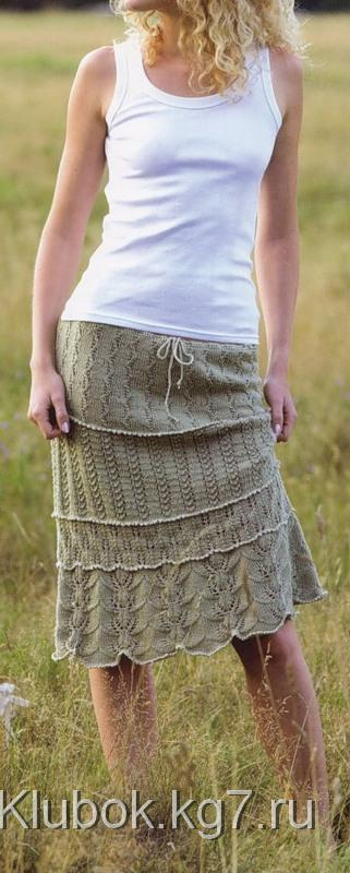 Ажурная многослойная юбка (Lace Tiered Skirt)